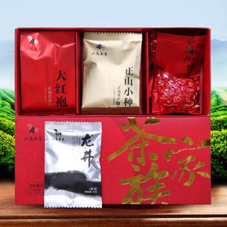 八马  茶叶 茶礼组合 茶家族(大红袍16g+铁观音16.6g+龙井8g+正山小种8g)共48.6g
