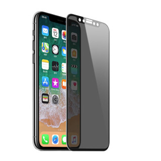 瓦力(VALEA) 苹果X/XS钢化膜 iPhone x/xs钢化膜全屏3D曲面手机防窥贴膜 黑色