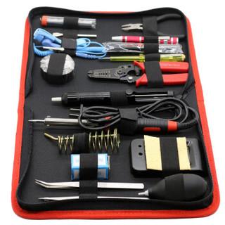 福吉斯特(Forgestar)25件电讯组套家用电烙铁焊接套装 电子电工便携家电维修工具包