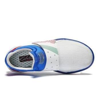 SATCHI 沙驰 潮流运动时尚休闲防滑耐磨健步鞋女鞋M70110 白+蓝 39