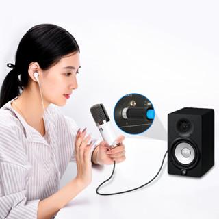 威迅(VENTION)6.5mm大三芯公转卡侬母话筒线 麦克风调音台音响连接线 功放卡农平衡线音频线2米 黑色BBEBH