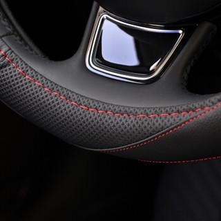 卡莱饰  方向盘套真皮专用汽车把套 BYD比亚迪S6唐S7秦G5速锐F6宋F0元-F3 黑色红线