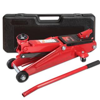BIG RED红色卧式液压千斤顶3吨 汽车工具小车轿车面包车用换胎工具3T(塑盒款)