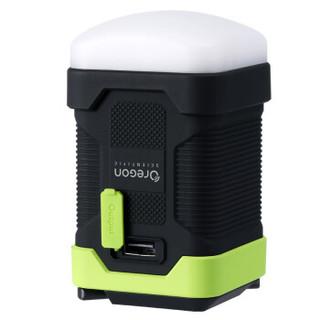 欧西亚手持可充电5档LED户外灯野营露营灯防水 绿色