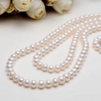 京润珍珠 珍情 白色淡水珍珠项链 7-8mm
