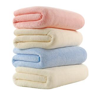 卡伴 (Curbblan) 婴儿浴巾微米防螨新生儿宝宝洗澡大毛巾 天蓝100*120cm