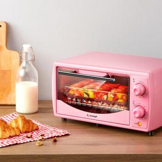 长帝(changdi)10升新款家用多功能电烤箱250度超高调温60分钟超长定时迷你小型家庭用烤箱TB101