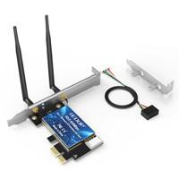 翼联(EDUP)EP-9619 600M双频PCI-E无线网卡 WIFI蓝牙无线模块4.0蓝牙适配器  台式机电脑WIFI接收/发射器