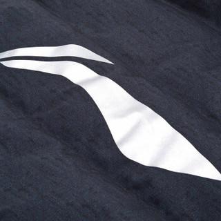 LI-NING 李宁 长款羽绒服外套 瑜伽户外运动健身时尚保暖白鸭绒 AYMN079-2 (黑色、L)