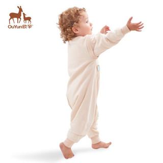 欧孕(OUYUN)  婴儿睡袋春秋宝宝分腿睡袋儿童防踢被哎哩猫双层90cm