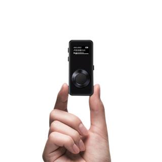 山水(SANSUI)F10 mp3播放器 8G 学生 随身听 录音笔 曲面屏 无损插卡 黑