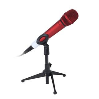 AIX LM-021 爱秀手持电容麦克风 网络K歌电脑 YY主播话筒设备 红色