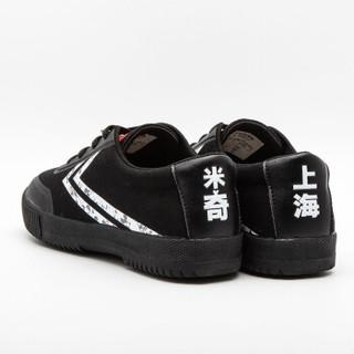 dafufeiyue 大孚飞跃 米奇90周年迪士尼跨界限量合作款亲自帆布男女小白鞋 DFM90-3 黑白 34
