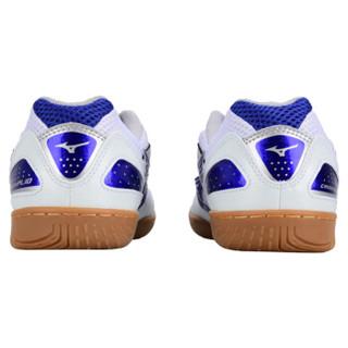 MIZUNO美津浓 乒乓球鞋男款 超轻透气防滑乒乓球运动鞋训练鞋 81GA143027 白蓝 43