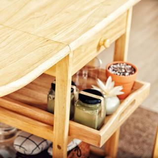 越茂 实木家用可折叠餐桌 多功能可移动小户型餐桌 简易长方形小饭桌子折叠桌 909-NA