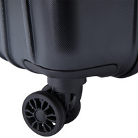 CROWN 皇冠家纺 双杆万向轮拉杆箱旅行箱登机箱 5260-25 黑色 24-25英寸