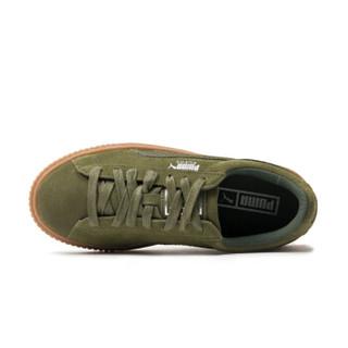 PUMA(彪马) 蕾哈娜 厚底松糕鞋 绿色 女鞋 Suede Platform 365109-03 37
