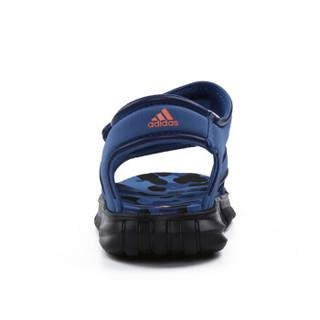 阿迪达斯(adidas)童鞋儿童运动凉鞋男女童夏季新款沙滩鞋DB2528 蓝色11K/29码