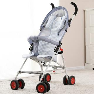 良良(liangliang)婴儿推车凉席乐优苎麻儿童夏季手推车座椅多用宝宝童车凉席子垫蓝色80*40cm