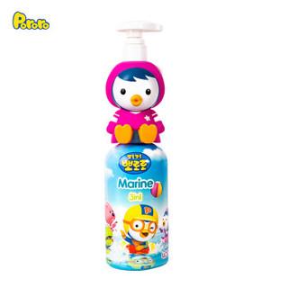 啵乐乐 (Pororo)韩国进口儿童洗发沐浴露润肤三合一400ml 宝宝儿童沐浴露洗发水二合一加润肤露 佩蒂款