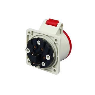 浙工IP44暗装工业插座32a5p三相380V五孔32a欧标插座开孔固定式  五个装ZNG-325