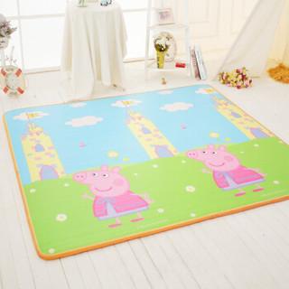 小猪佩奇 Peppa Pig 双面加厚EPE双面图案宝宝爬行垫爬爬垫 地儿童防滑地垫游戏毯2CM 180*200cm 城堡数字