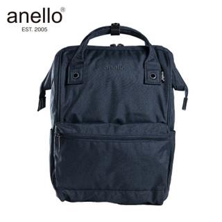 anello 阿耐洛 高密度涤纶混色旅行素色麻布双肩背包 AT-B2261藏青色