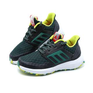 阿迪达斯(adidas)新款童鞋轻便透气网面运动跑步鞋CP9530 碳黑/烟绿 6/39码