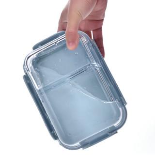 比得兔(Peter Rabbit)分格耐热玻璃保鲜盒 微波炉便当分隔饭盒三件套 赠保温包(600+800+860ml)PR-T1006