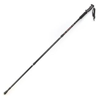 霞光  户外登山杖铝合金手杖三节可折叠拐杖直柄减震手杖  301 黑色