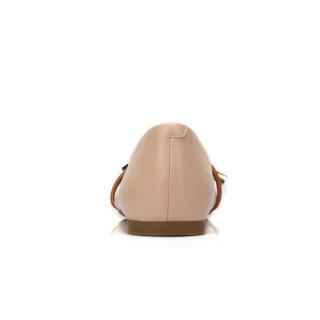 骆驼 A91893635 女士 气质淑女尖头套脚平跟单鞋 A91893635 驼/土黄 39