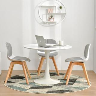 中伟 ZHONGWEI 洽谈桌椅组合接待桌椅小圆桌子简约休闲餐桌椅1桌4椅