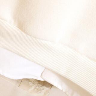 美国苹果 AEMAPE 卫衣男2019春季新款套头连帽男士外套情侣装上衣韩版撞色上衣潮 黑色 L