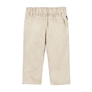 Gap旗舰店 男婴 棉质休闲带衬里松紧腰斜纹裤336671 沙滩卡其色 3-6M
