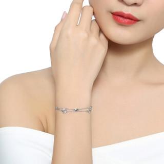 六福珠宝 网络专款Starry系列Pt950星星女款铂金手链  计价 HIPTBB0001 约4.09克