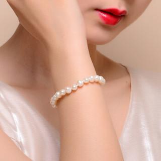 蒂蔻 T0551时尚强光淡水珍珠手链女款母亲节礼物送妈妈925银尾扣手饰品创意实用生日送老婆送女朋友