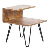 百伽 印度原装进口小茶几客厅实木家具沙发边几角几60589