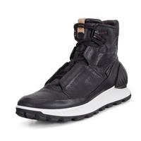 ECCO 832314 爱步新款休闲高帮男鞋  舒适潮流青年男鞋  黑色-51052 43