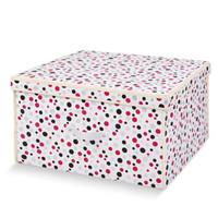 百草园 圆点大号收纳箱整理箱 衣服杂物收纳盒储物箱 60L 1个装 *3件