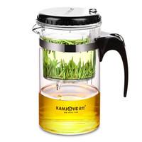 金灶(KAMJOVE) 500ML茶壶茶具 耐热玻璃茶杯 按压式飘逸杯 玻璃泡茶壶 花茶壶绿茶杯TP-160