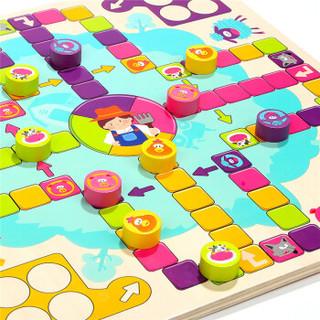 特宝儿(topbright)开心飞行棋儿童玩具小孩 女孩 男孩 木质益智玩具
