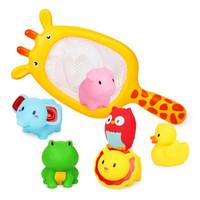 贝恩施 儿童玩具 宝宝洗澡玩具 婴幼儿益智玩具戏水玩具长颈鹿729
