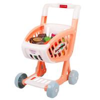 贝恩施(beiens)儿童益智玩具 男孩 女孩玩具 过家家仿真玩具 水果蔬菜声光购物手推车B103-06粉色