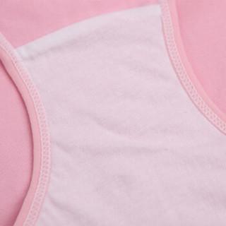 婧麒孕妇内裤纯棉托腹高腰内裤怀孕期全棉大码可调节 2粉+1绿 三条装XL码jq9006