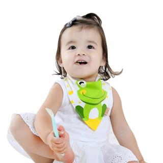 优贝迪 婴儿口水巾 宝宝纯棉三角巾儿童头巾围嘴兜新生儿用品 精柔款(5条装)