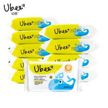 幼蓓(Ubee) 婴儿洗衣皂新生儿宝宝用儿童尿布皂婴儿肥皂200g*10块
