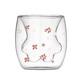 双层玻璃猫爪杯 印花款 39.9元包邮(需用券)