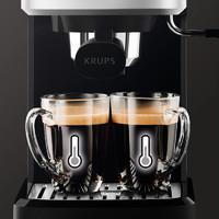 KRUPS XP344080 半自动咖啡机 (黑色、1L)
