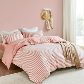 历史低价 : 淘宝心选 尼特条纹全棉针织床上四件套 1.2m床