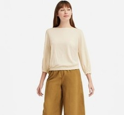 UNIQLO 优衣库 415432 女士花式打褶T恤